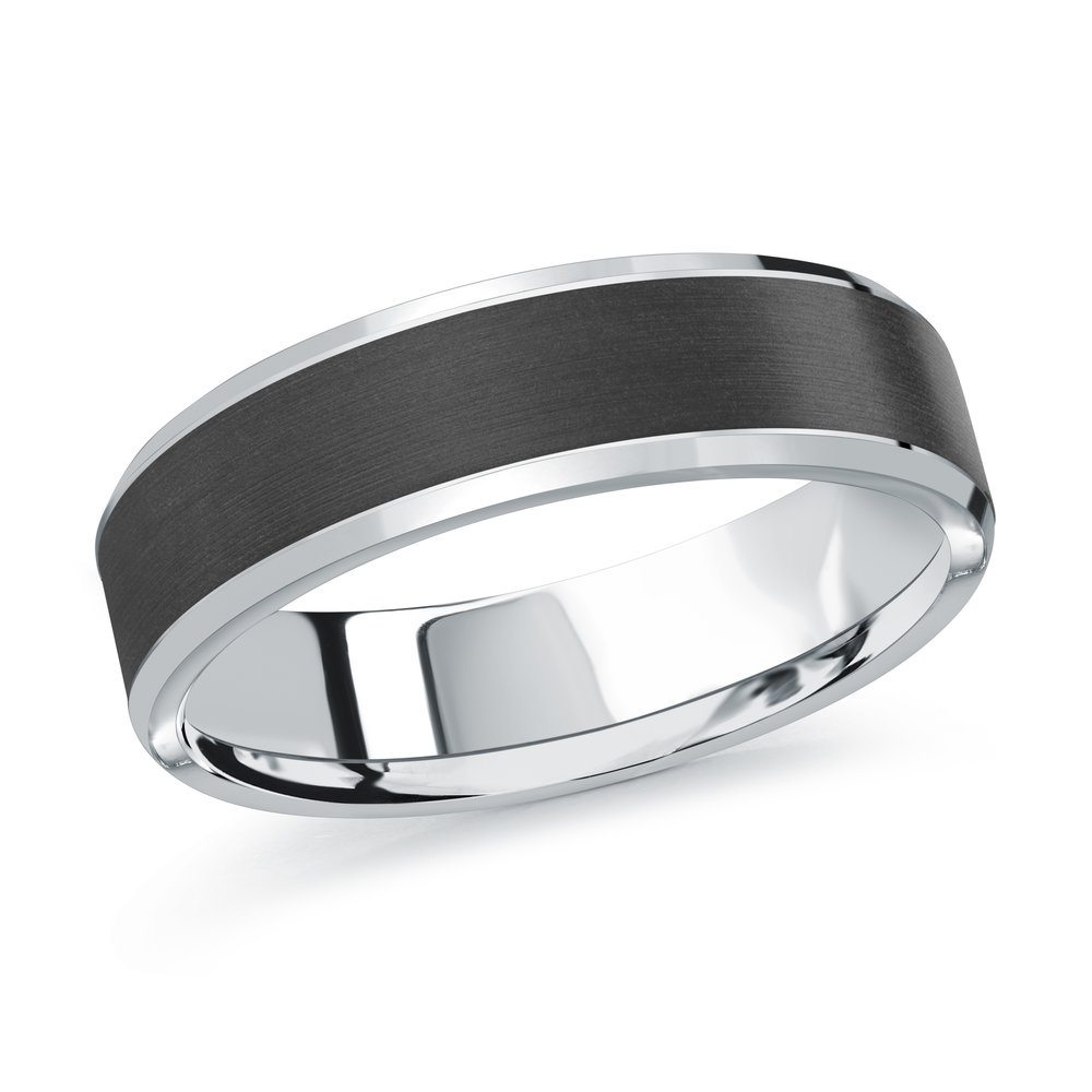 White Gold Men's Ring Size 6mm (MRDA-093-6W)