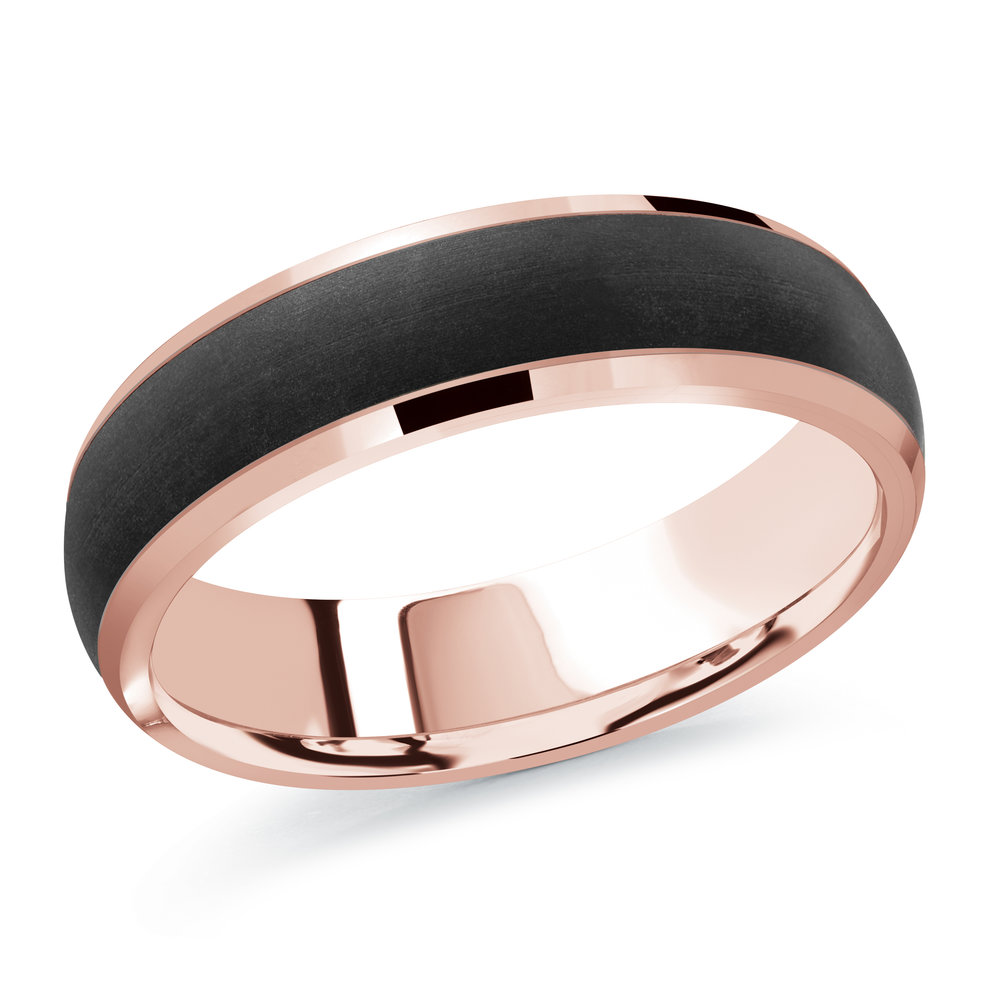 Pink Gold Men's Ring Size 6mm (MRDA-094-6P)