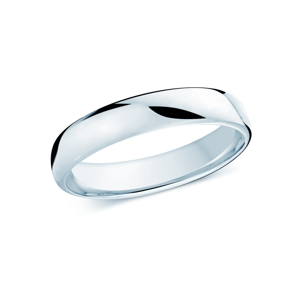 White Gold Men's Ring Size 4mm (J-308-04WG)