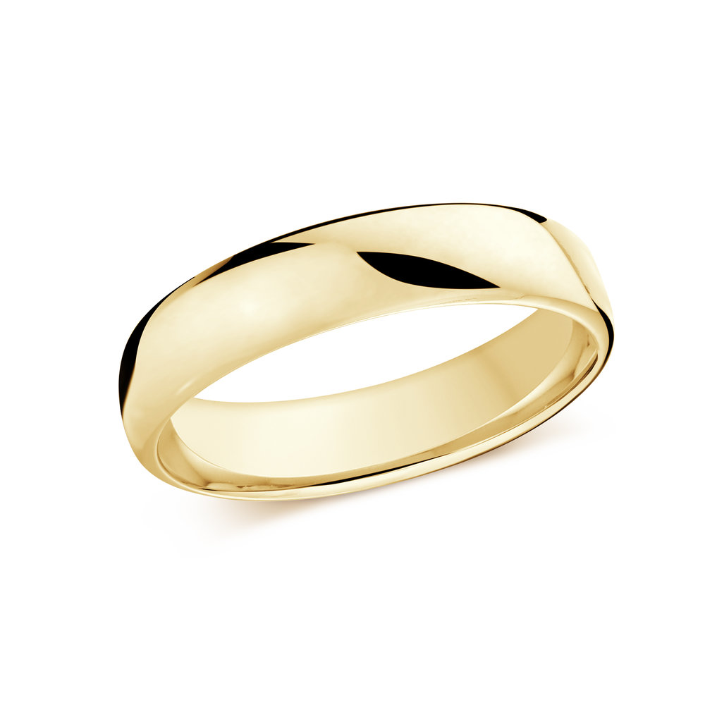 Yellow Gold Men's Ring Size 5mm (J-308-05YG)