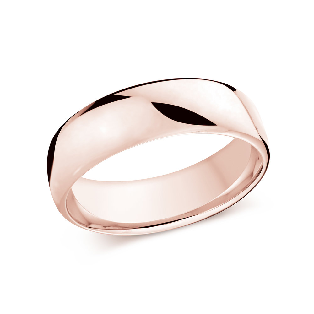 Pink Gold Men's Ring Size 7mm (J-308-07PG)