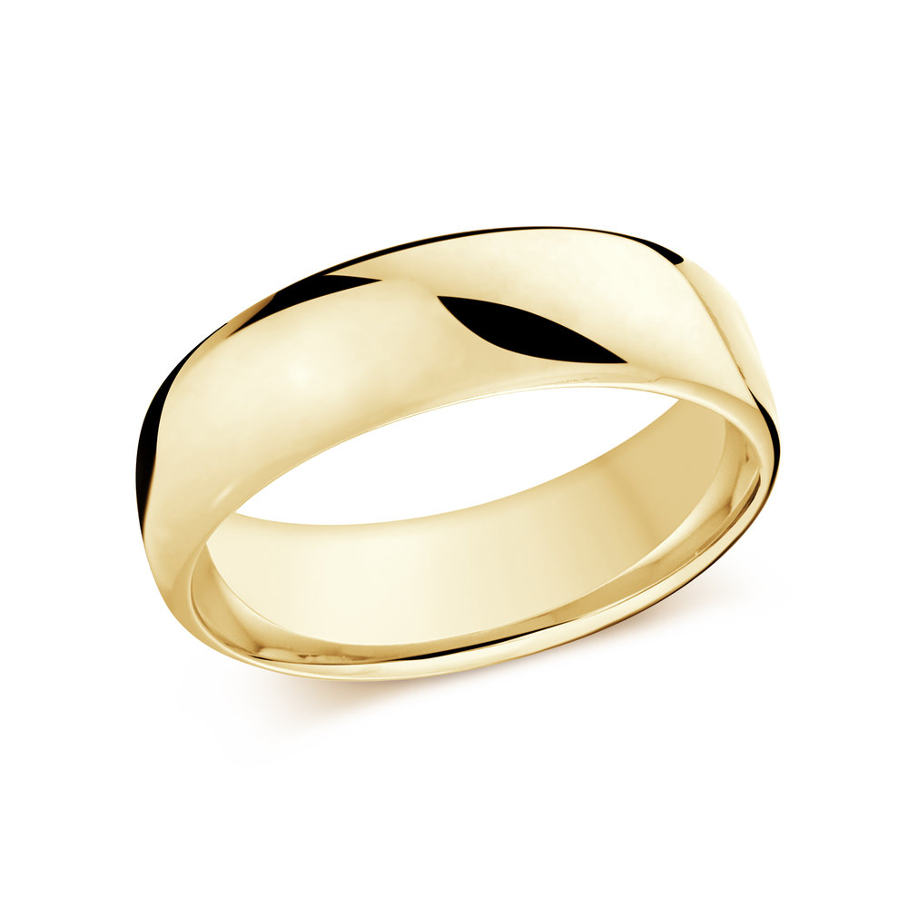 Yellow Gold Men's Ring Size 7mm (J-308-07YG)