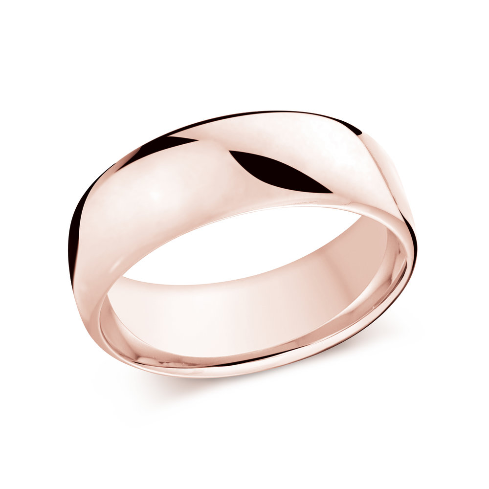 Pink Gold Men's Ring Size 8mm (J-308-08PG)