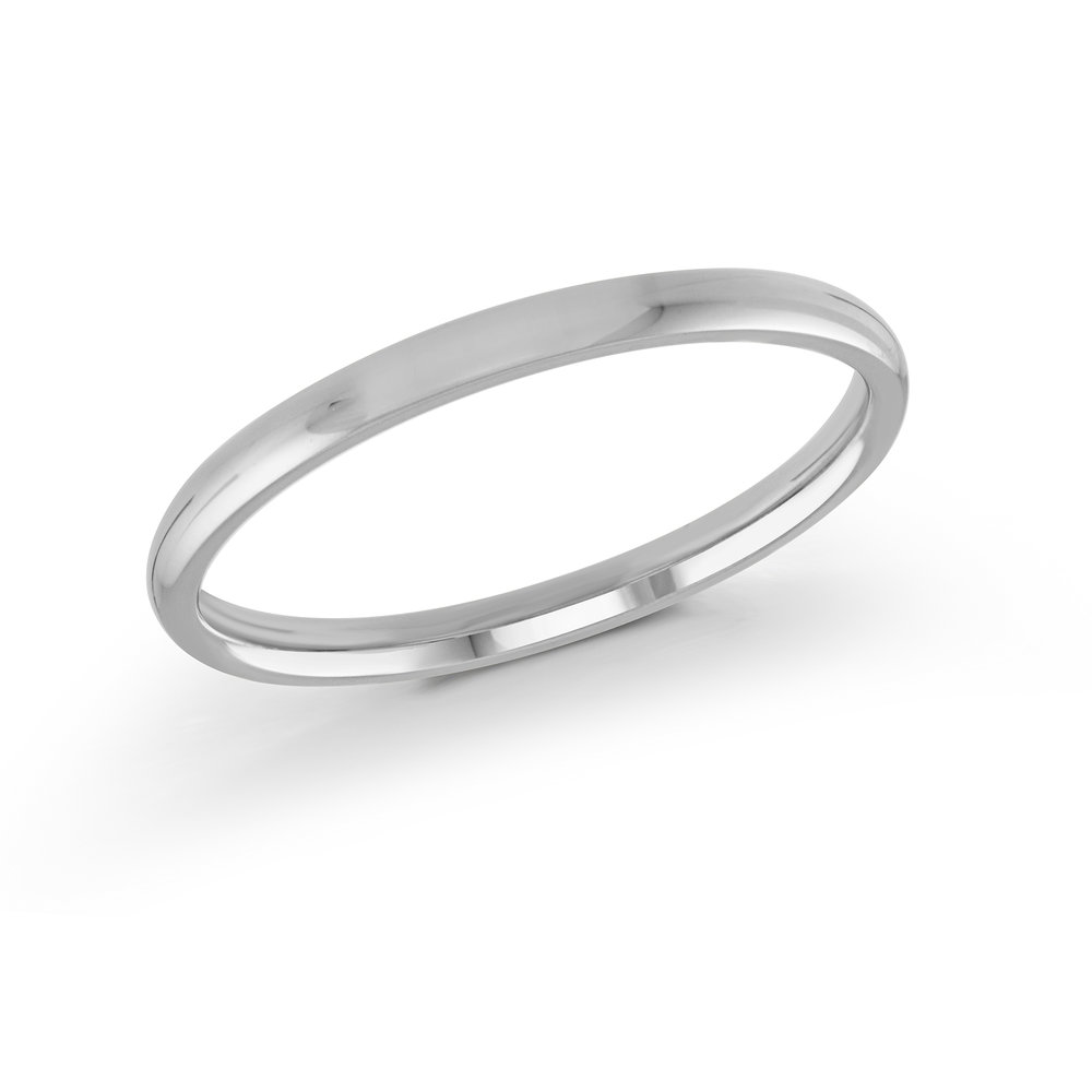White Gold Men's Ring Size 2mm (J-217-02WG)