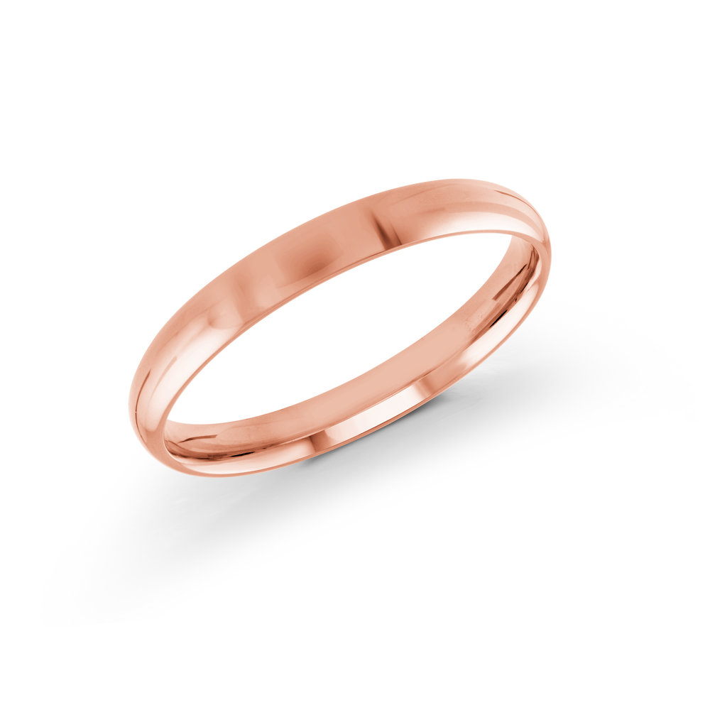 Pink Gold Men's Ring Size 3mm (J-217-03PG)