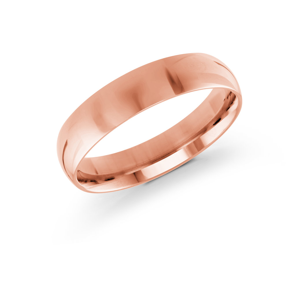 Pink Gold Men's Ring Size 5mm (J-217-05PG)