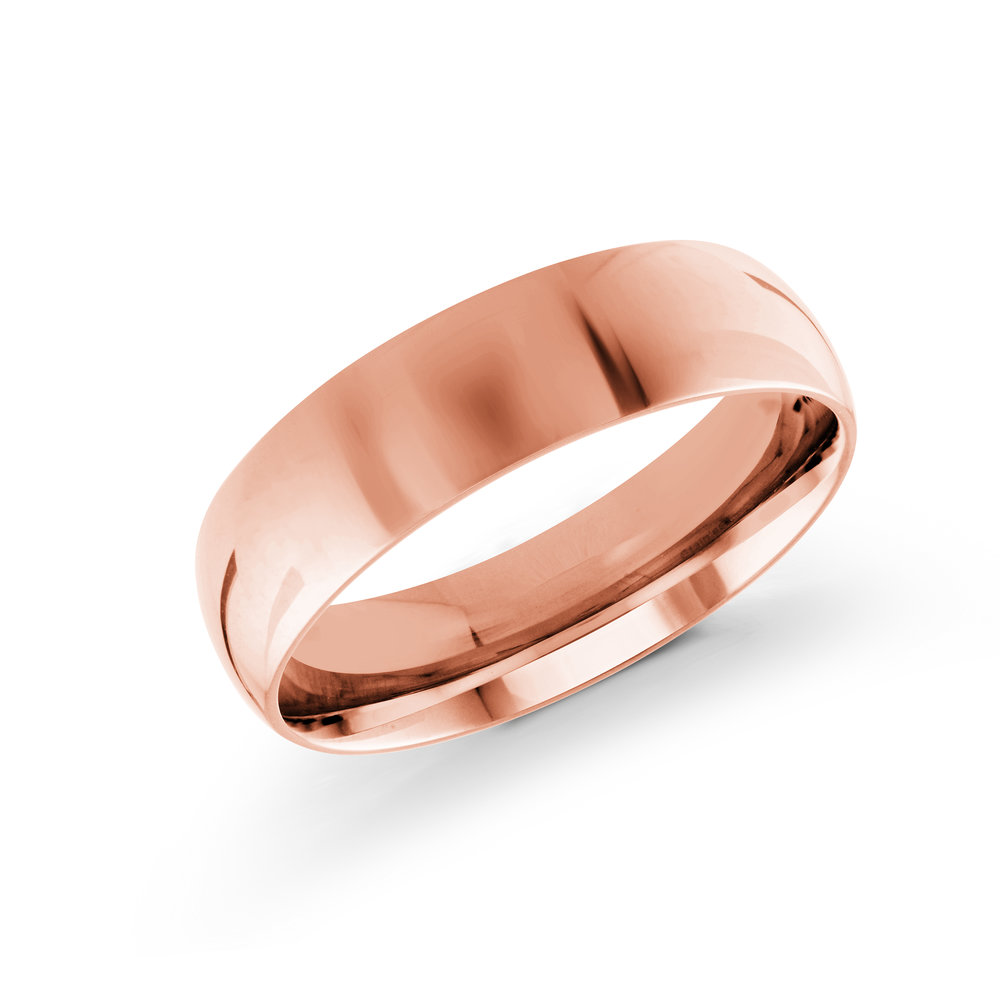 Pink Gold Men's Ring Size 6mm (J-217-06PG)