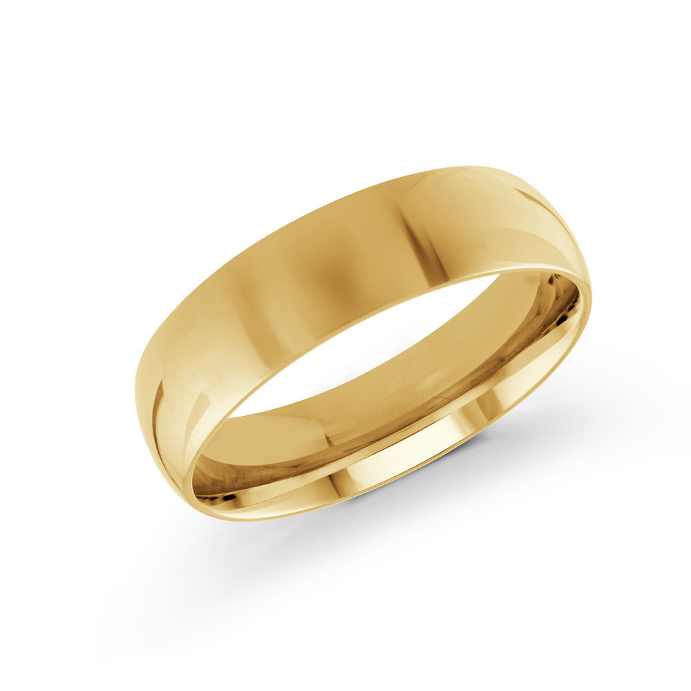 Yellow Gold Men's Ring Size 6mm (J-217-06YG)