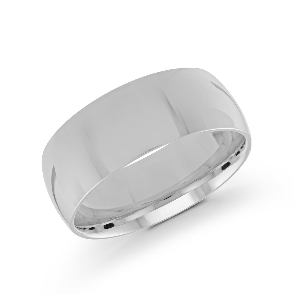 White Gold Men's Ring Size 8mm (J-217-08WG)