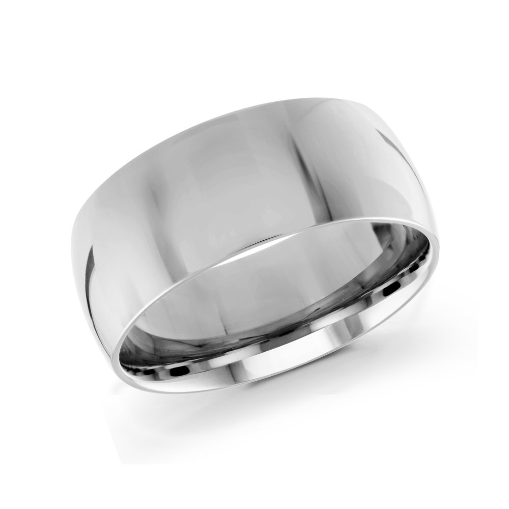 White Gold Men's Ring Size 9mm (J-217-09WG)