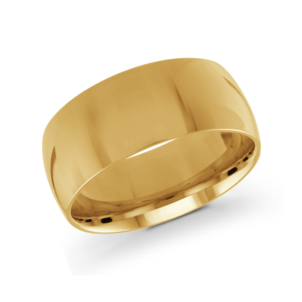 Yellow Gold Men's Ring Size 9mm (J-217-09YG)