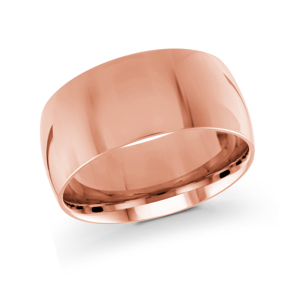 Pink Gold Men's Ring Size 10mm (J-217-10PG)