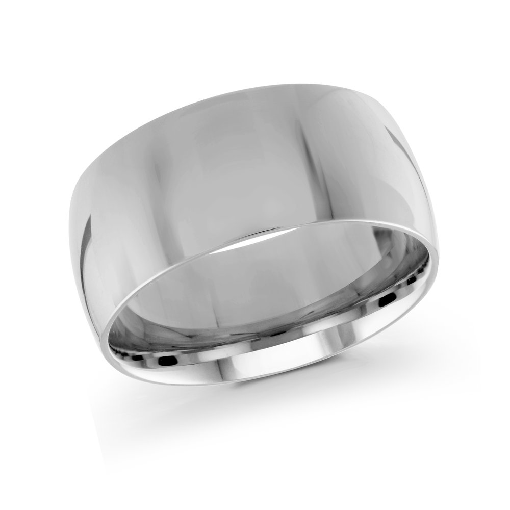 White Gold Men's Ring Size 10mm (J-217-10WG)