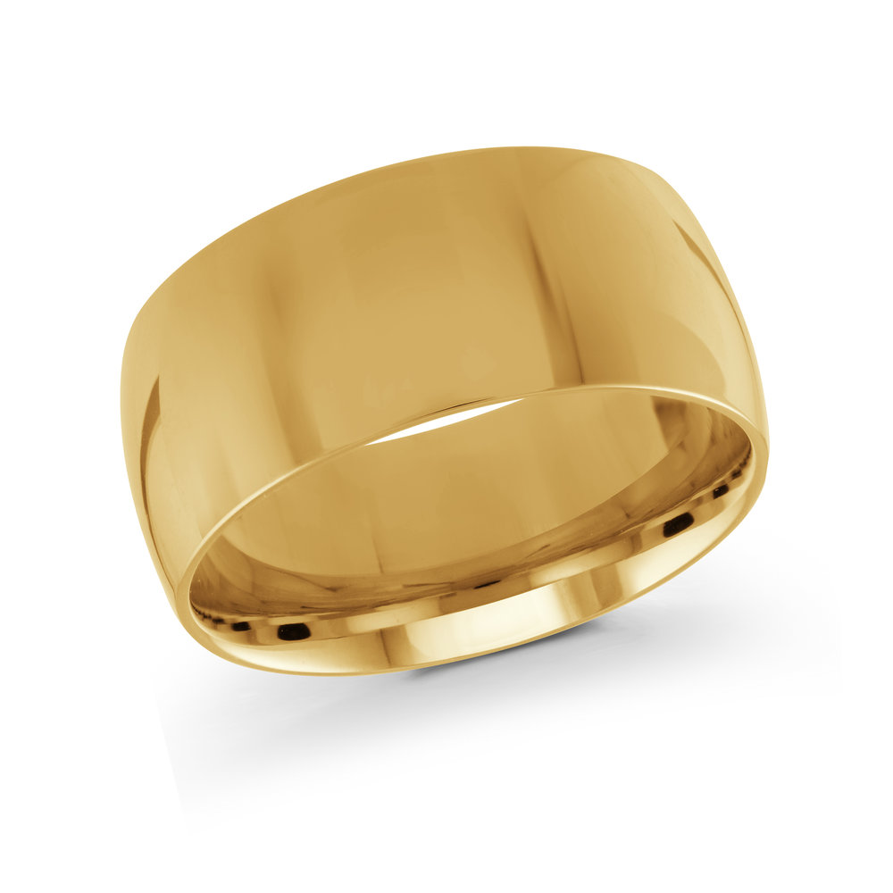 Yellow Gold Men's Ring Size 10mm (J-217-10YG)
