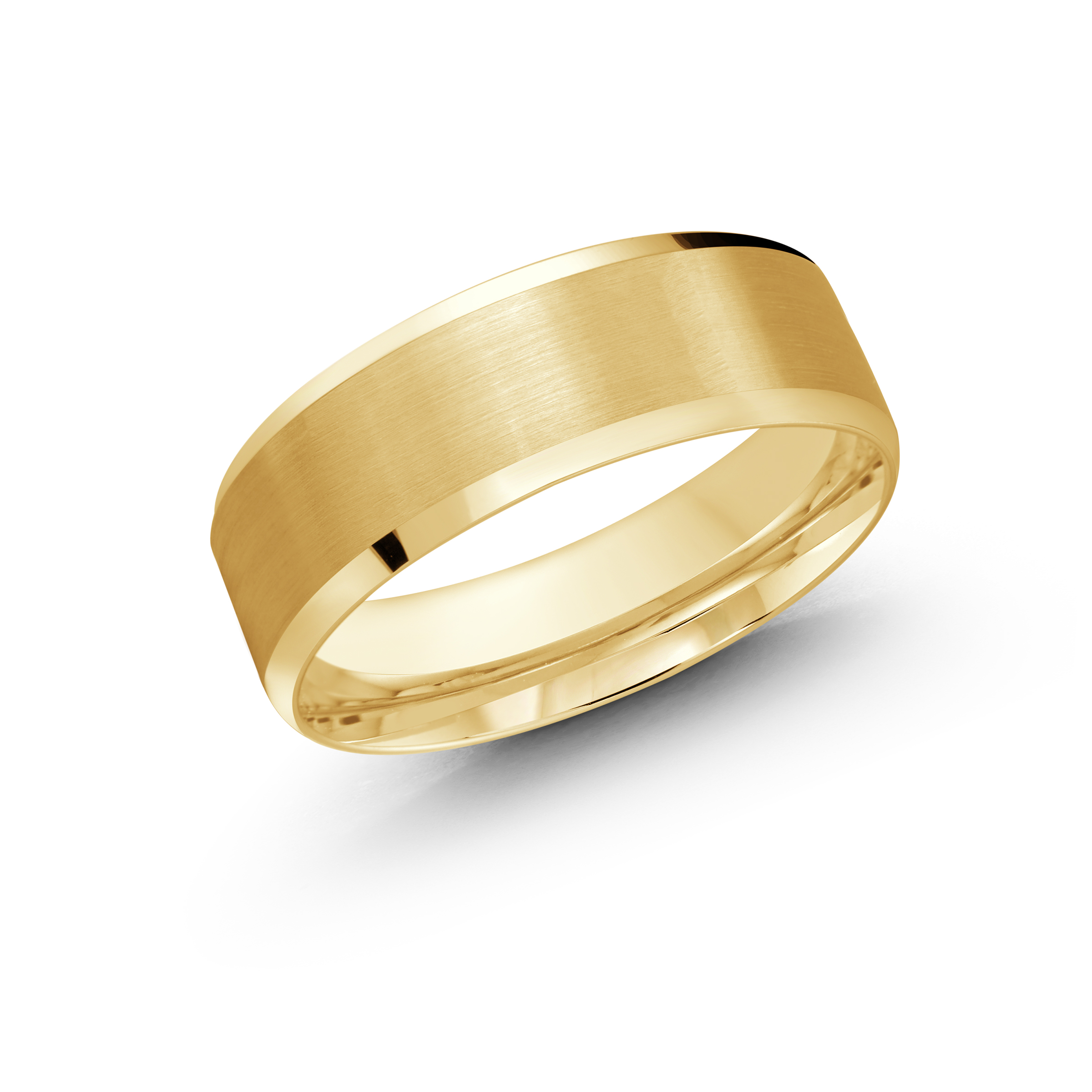 Yellow Gold Men's Ring Size 7mm (LUX-1105-7Y)
