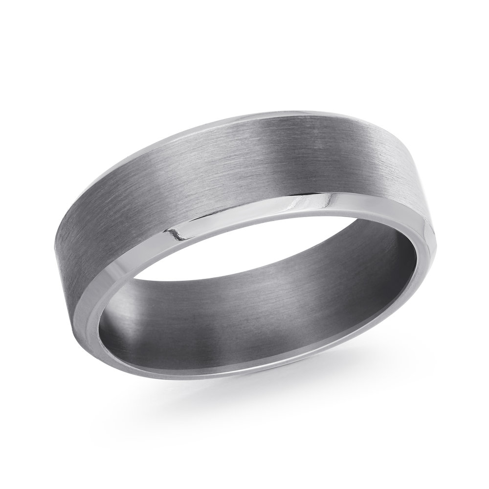 GREY Gold Men's Ring Size 7mm (TANT-001-7)