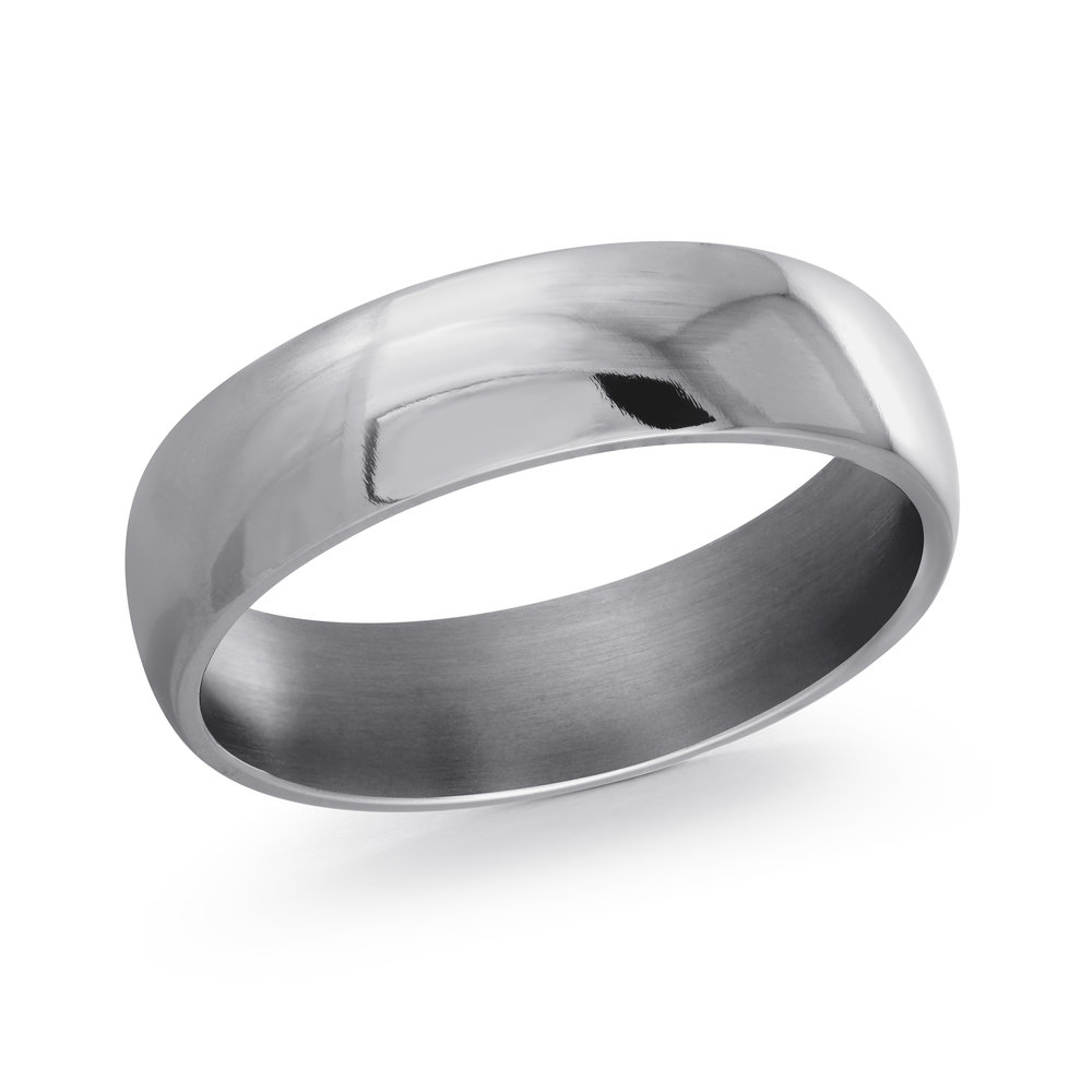 GREY Gold Men's Ring Size 6mm (TANT-006-6)