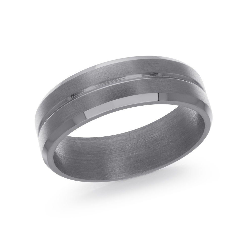 GREY Gold Men's Ring Size 7mm (TANT-012-7)