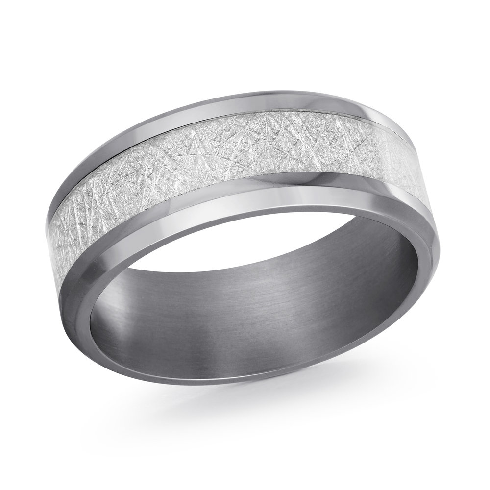 GREY Gold Men's Ring Size 8mm (TANT-014-8)