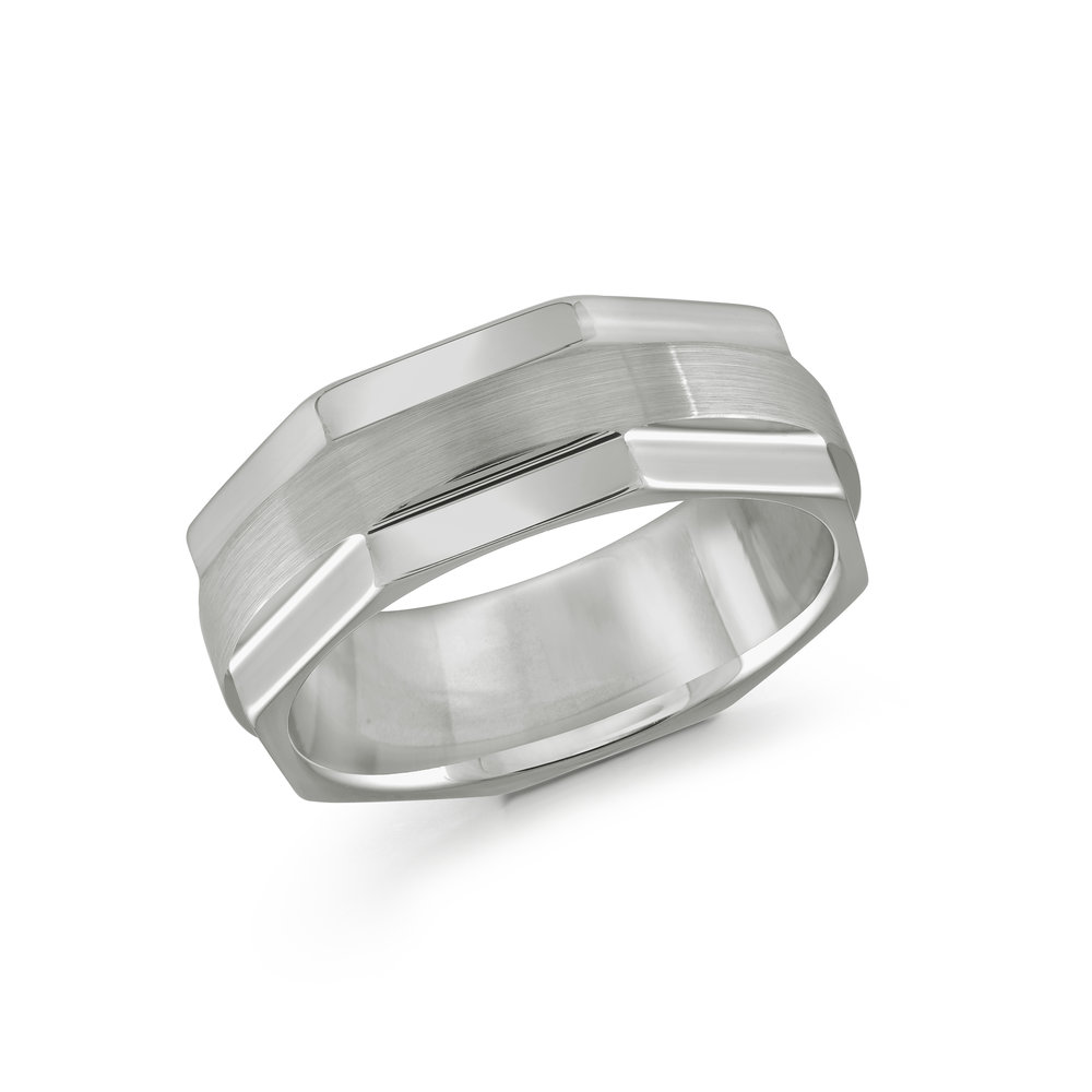 White Gold Men's Ring Size 8mm (TG-003)