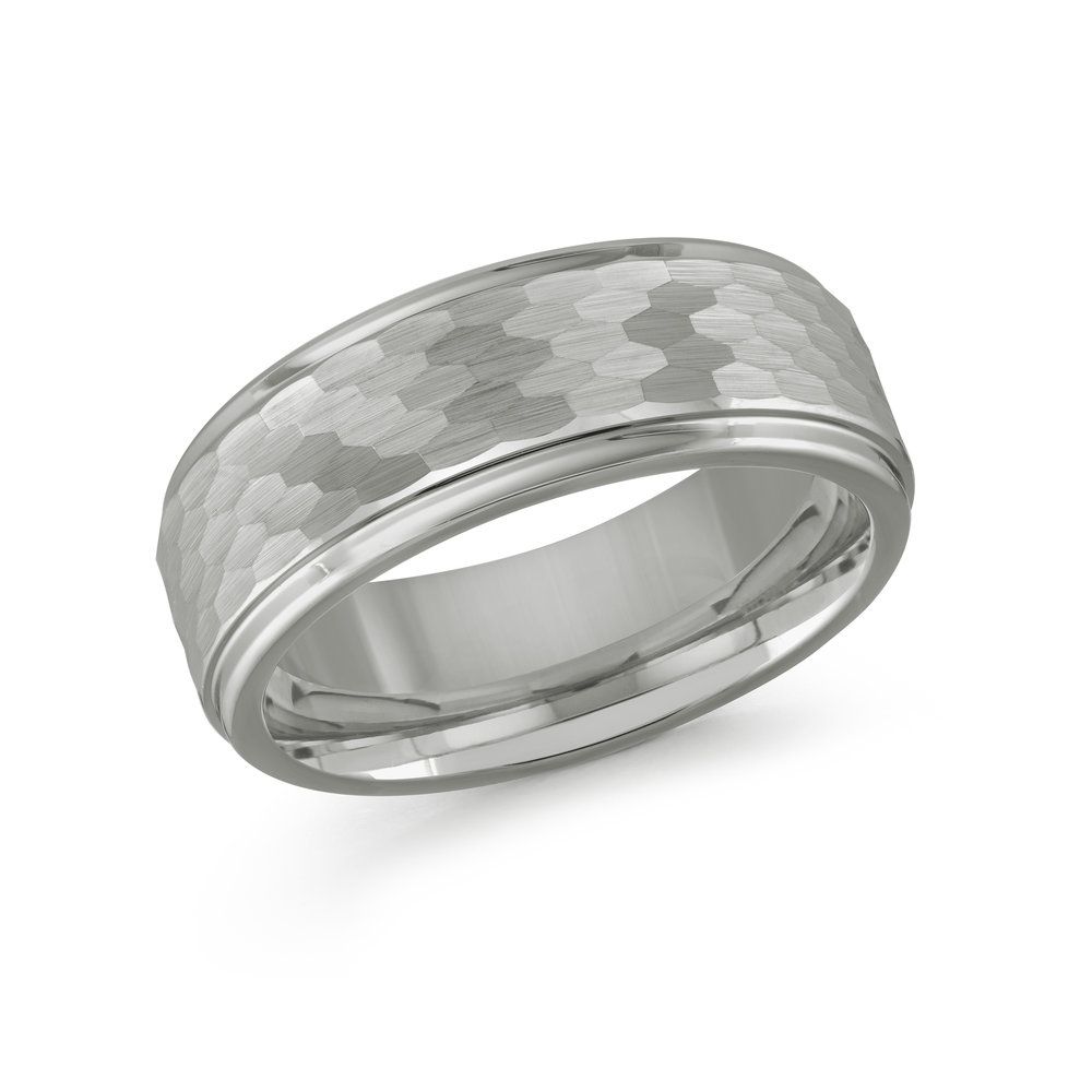 White Gold Men's Ring Size 8mm (TG-005)