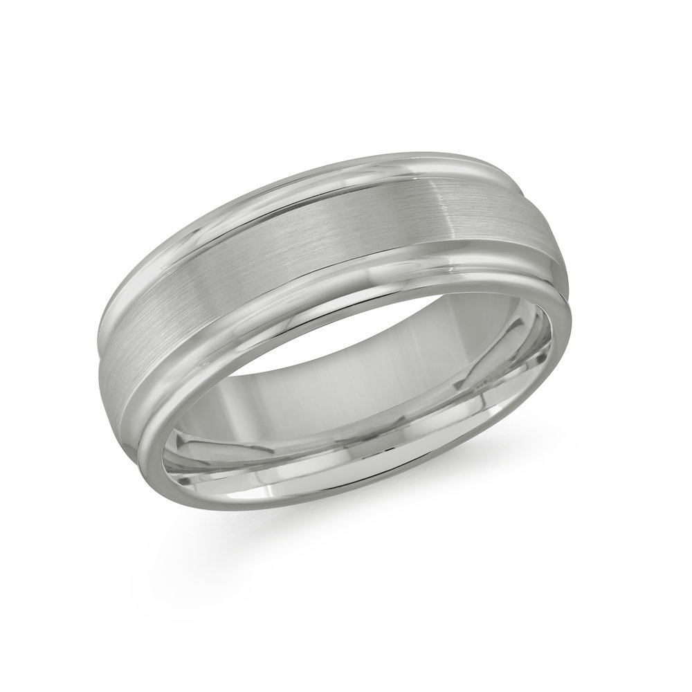 White Gold Men's Ring Size 8mm (TG-006)