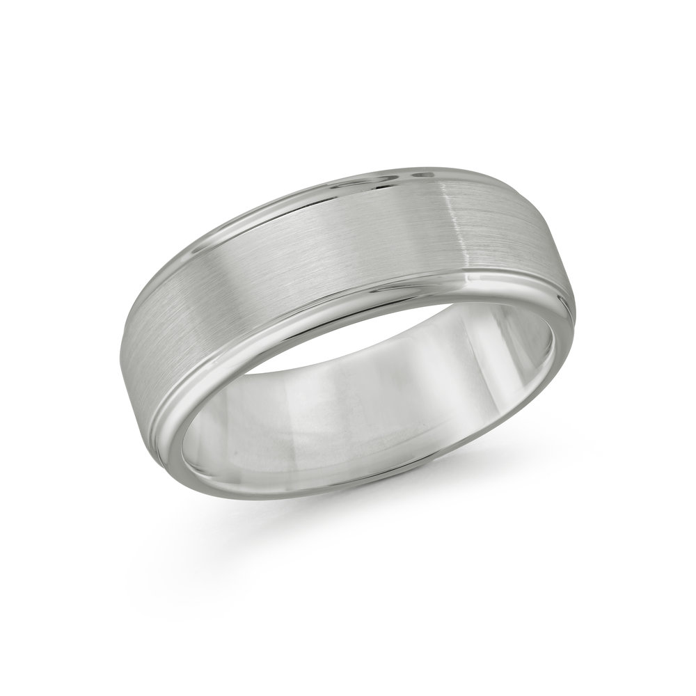 White Gold Men's Ring Size 8mm (TG-010)