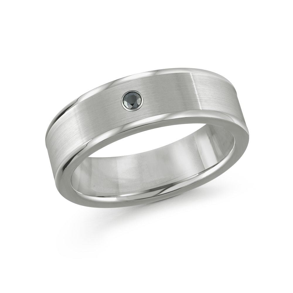 White Gold Men's Ring Size 8mm (TG-013D)