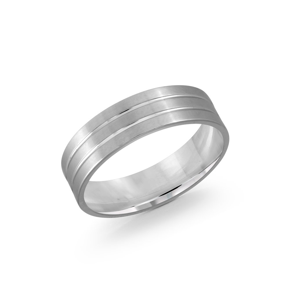 White Gold Men's Ring Size 6mm (CB-412-6W)