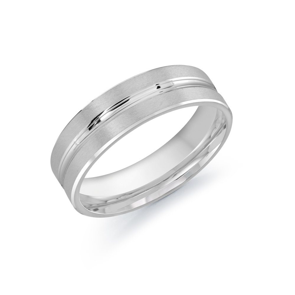 White Gold Men's Ring Size 6mm (CB-757-6W)