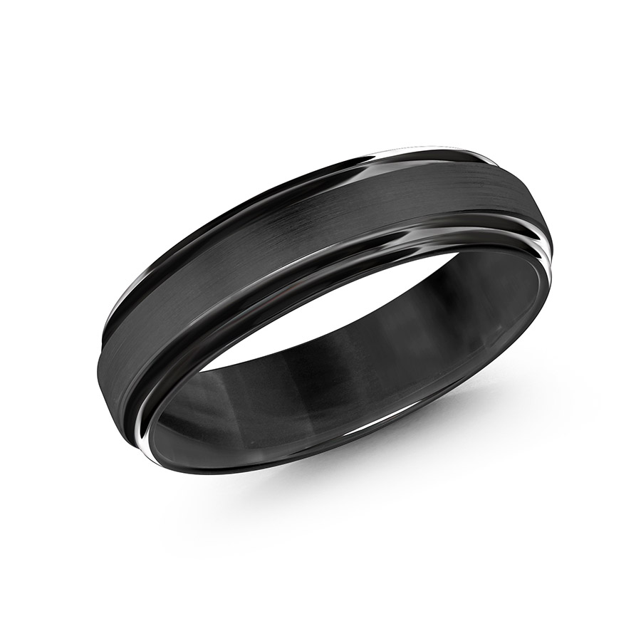 Black Gold Men's Ring Size 6mm (CB-058B)