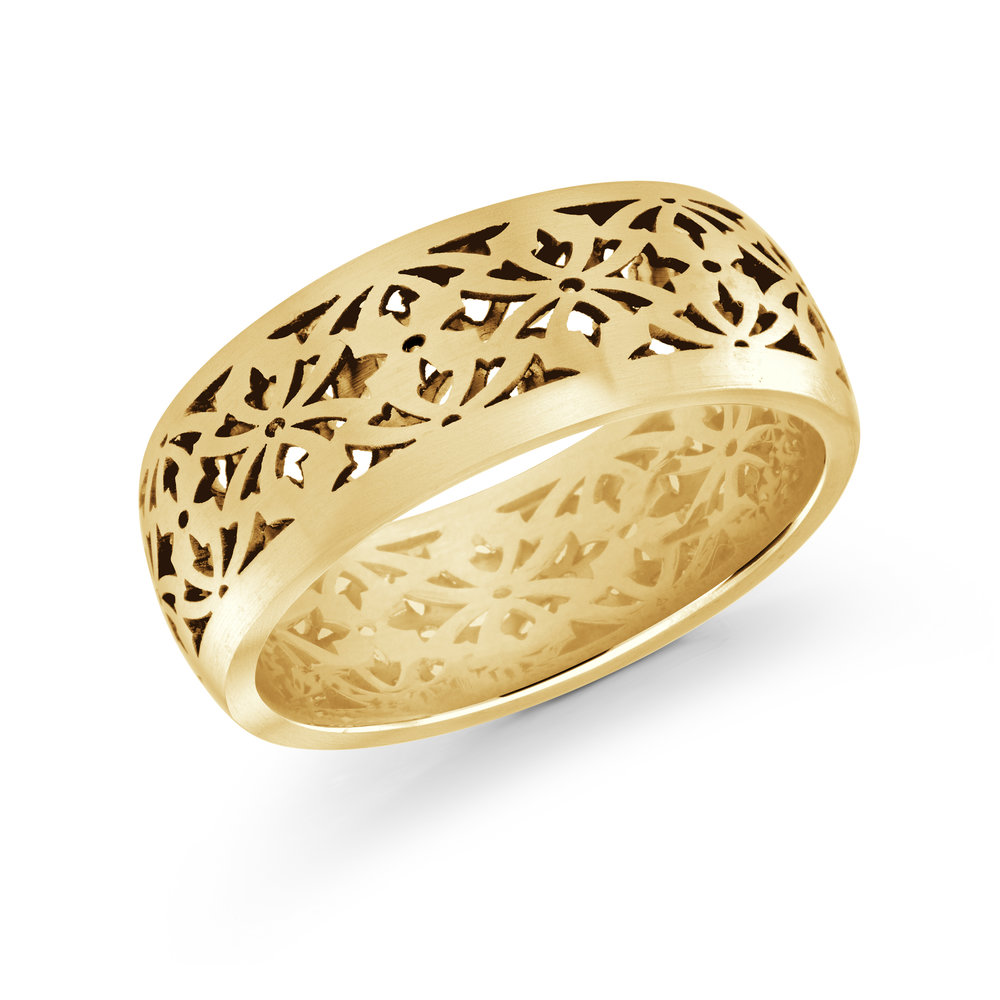 Yellow Gold Men's Ring Size 8mm (FJM-018-8Y)