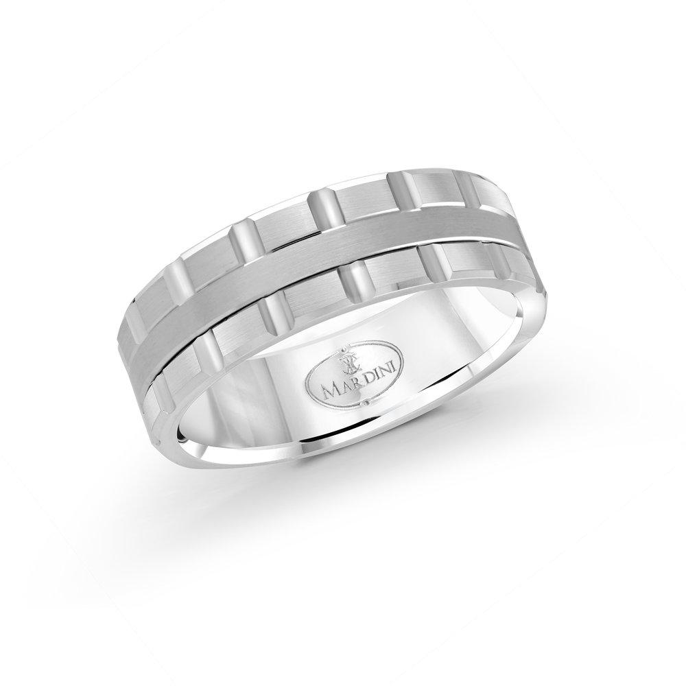 White Gold Men's Ring Size 7mm (MRD-045-7W)