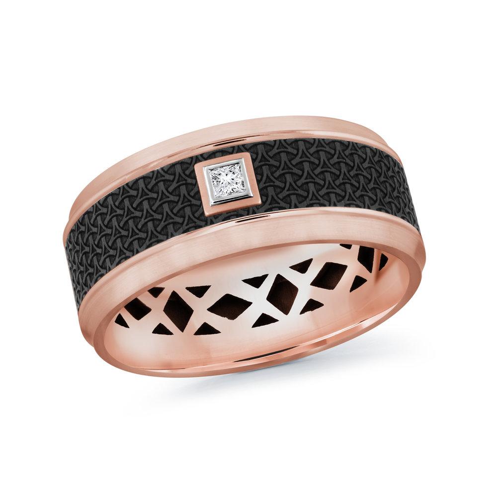 Pink Gold Men's Ring Size 9mm (MRDA-022-9P5)