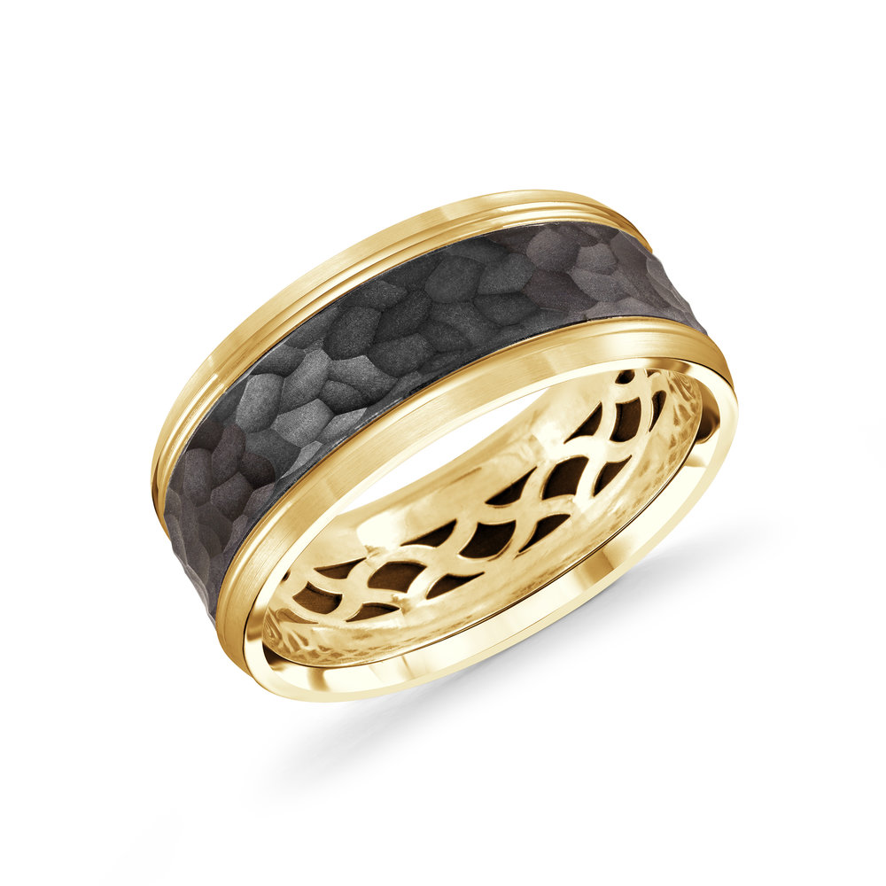 Yellow Gold Men's Ring Size 9mm (MRDA-040-9Y)