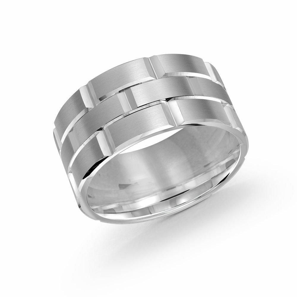 White Gold Men's Ring Size 11mm (FJM-002-11W)