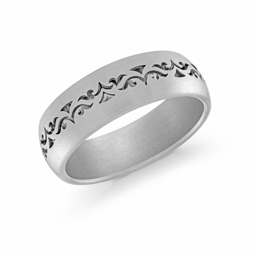 White Gold Men's Ring Size 7mm (FJM-008-7W)