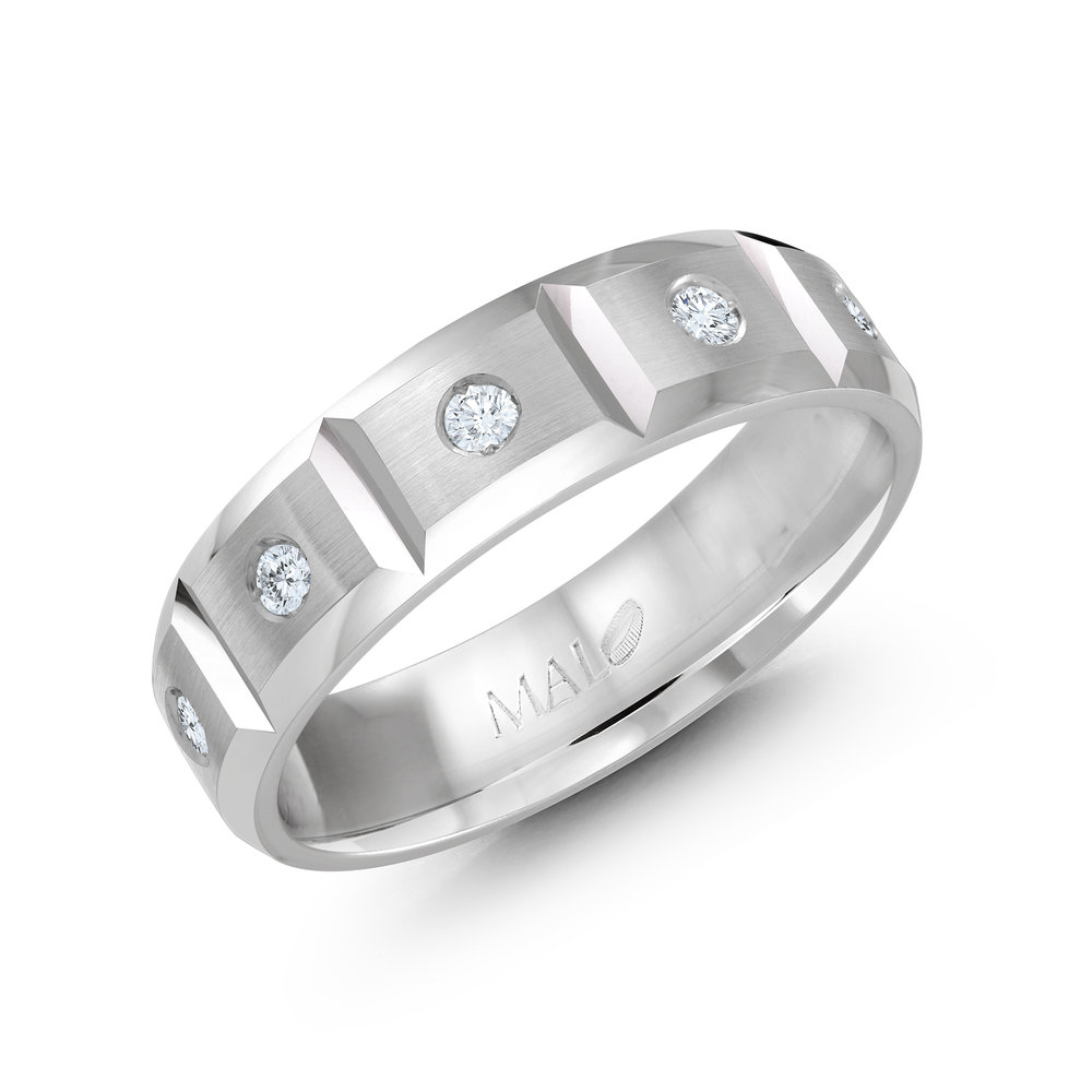 White Gold Men's Ring Size 6mm (JMD-388-6W30)
