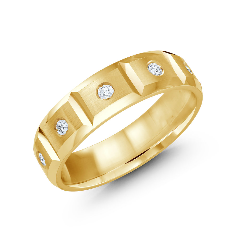 Yellow Gold Men's Ring Size 6mm (JMD-388-6Y30)
