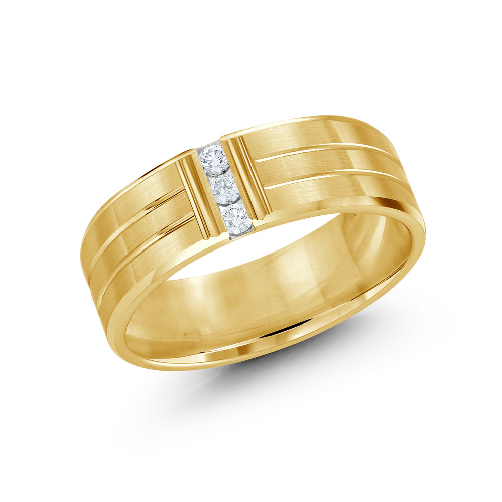 Yellow Gold Men's Ring Size 7mm (JMD-500-7Y10)