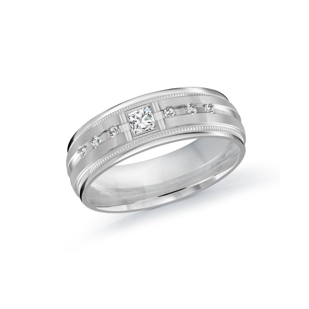 White Gold Men's Ring Size 7mm (JMD-503-7W20)