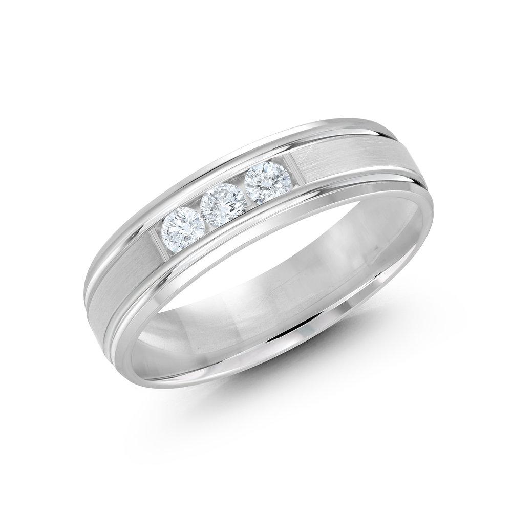 White Gold Men's Ring Size 6mm (JMD-520-6W21)