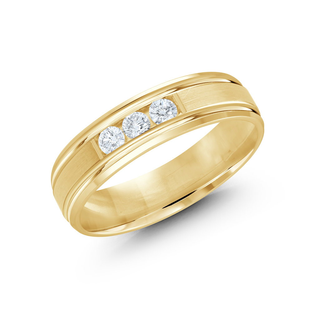 Yellow Gold Men's Ring Size 6mm (JMD-520-6Y21)