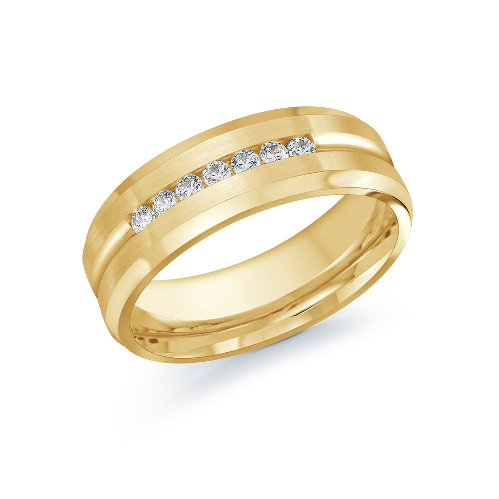 Yellow Gold Men's Ring Size 7mm (JMD-599-7Y25)