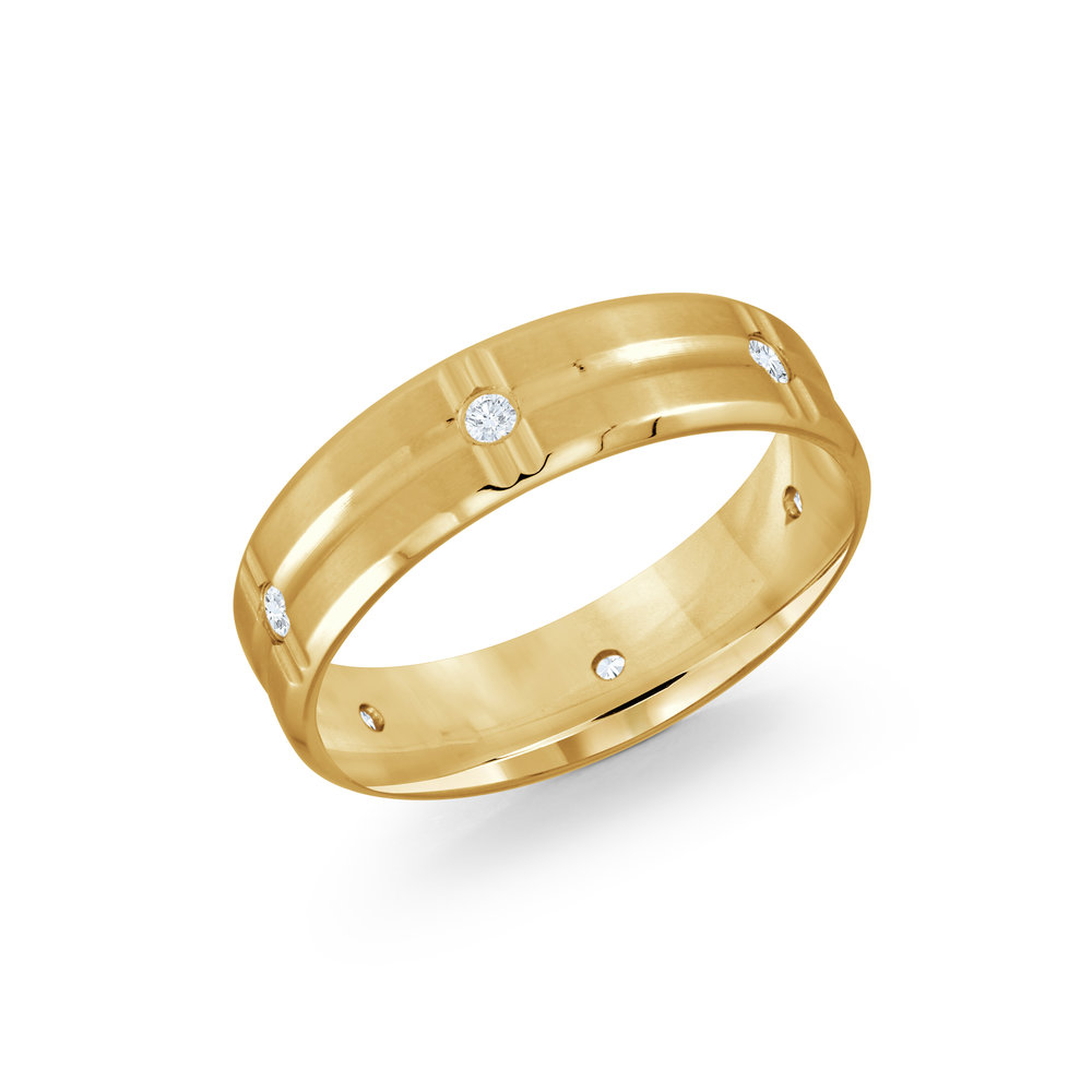 Yellow Gold Men's Ring Size 6mm (JMD-606-6Y12)