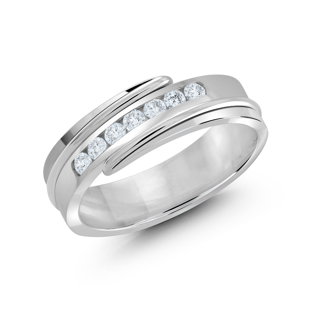 White Gold Men's Ring Size 7mm (JMD-634-7W25)