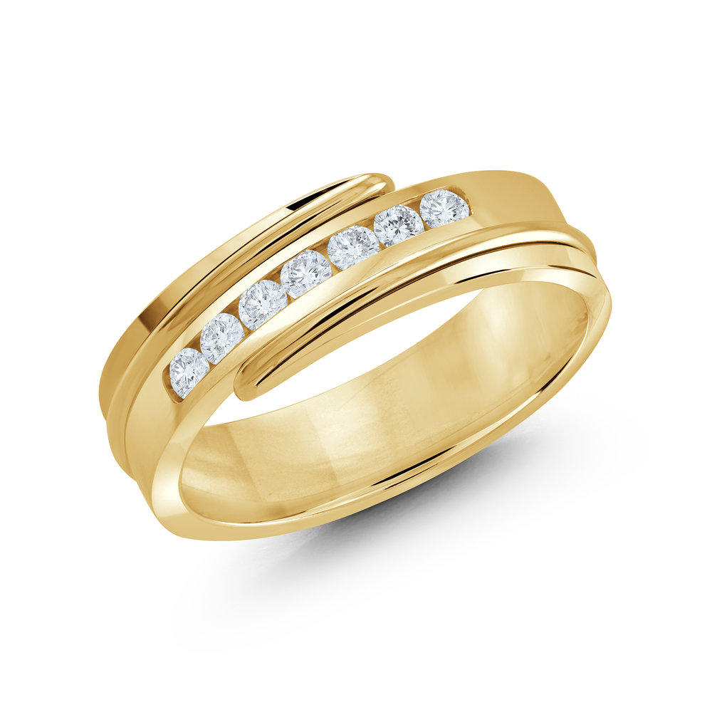 Yellow Gold Men's Ring Size 7mm (JMD-634-7Y25)