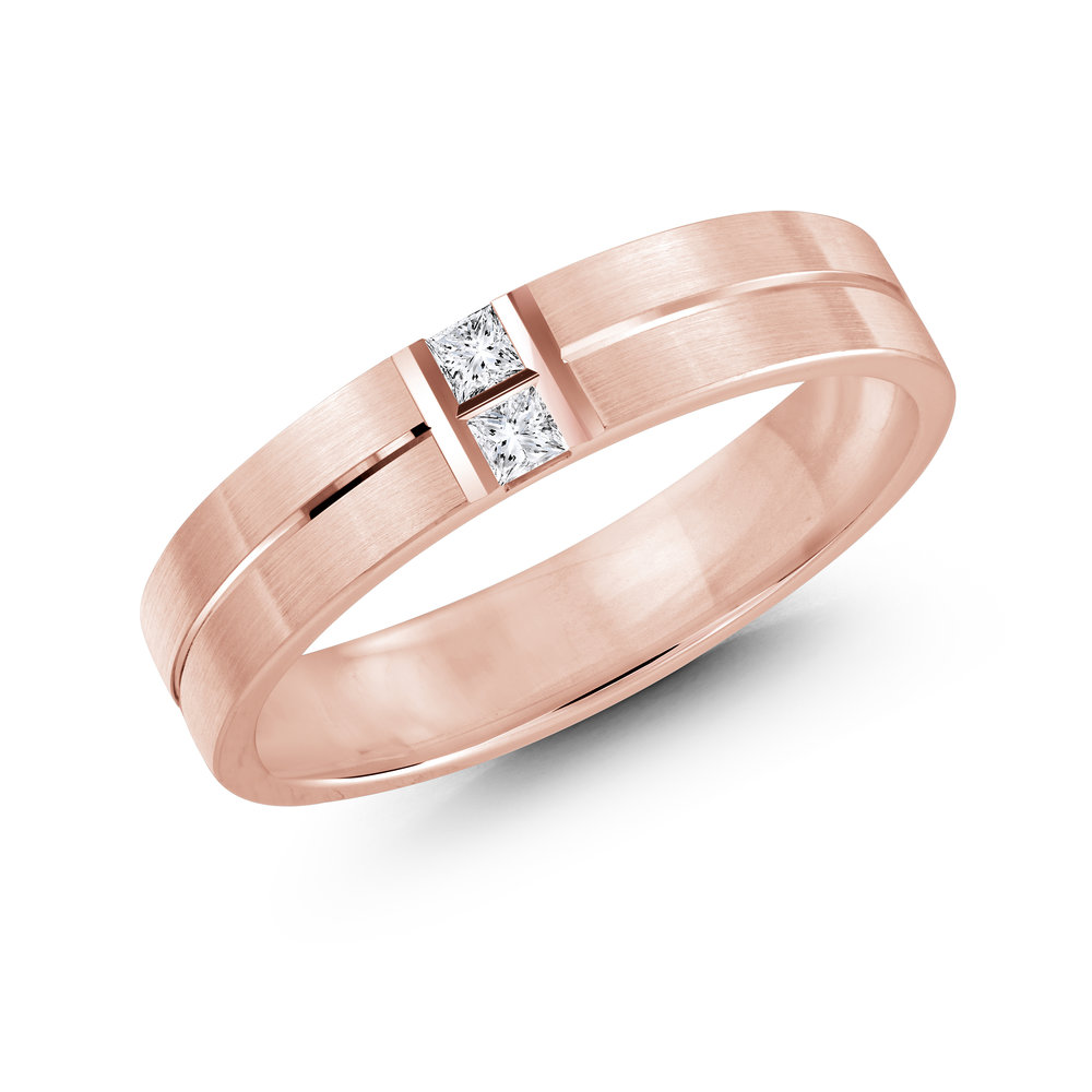 Pink Gold Men's Ring Size 5mm (JMD-652-5P10)