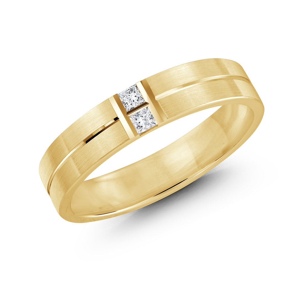 Yellow Gold Men's Ring Size 5mm (JMD-652-5Y10)