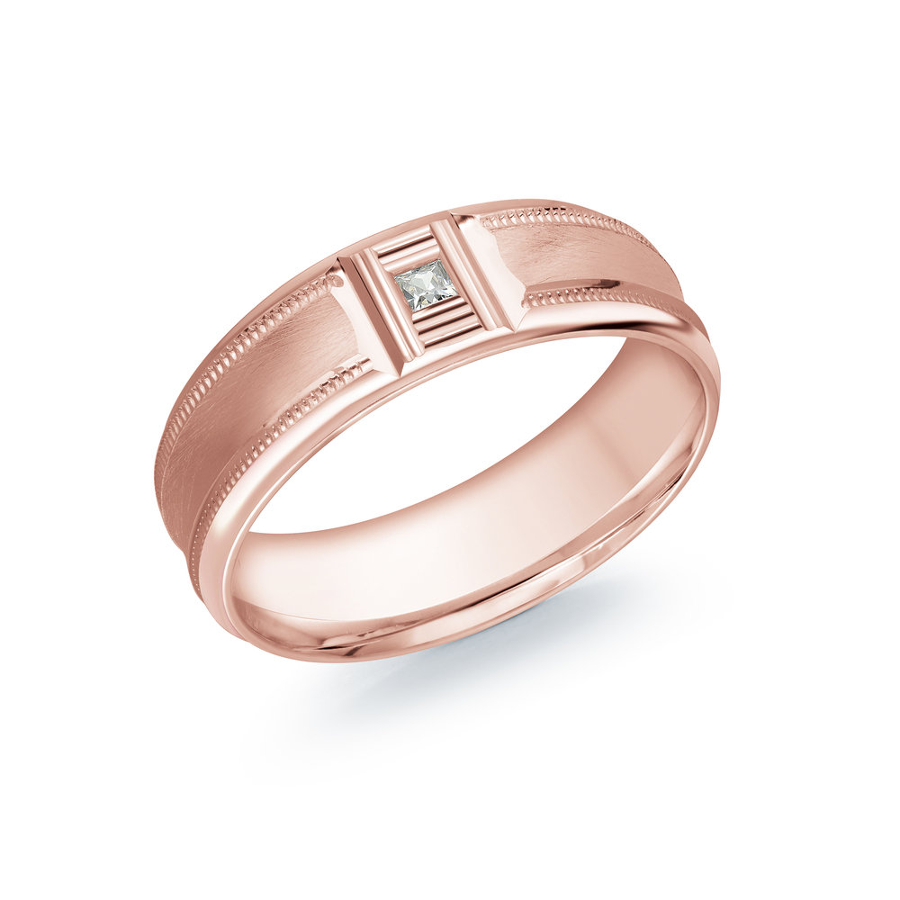 Pink Gold Men's Ring Size 7mm (JMD-688-7P5)